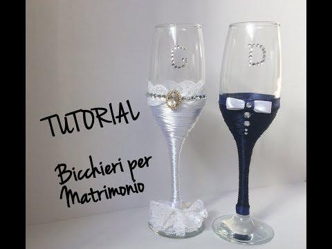 Tutorial bicchieri per sposi_ idee per matrimonio