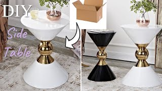 HOW TO DIY ACCENT TABLES USING CARDBOARD AND FUNNELS | BUDGET DIY HOME IMPROVEMENT