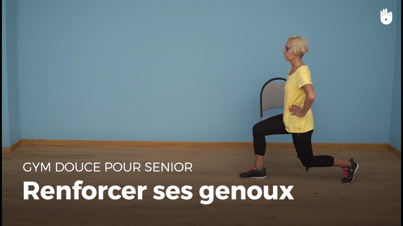 exercice pour renforcer ses genoux exercices de gym douce pour senior sikana. Black Bedroom Furniture Sets. Home Design Ideas