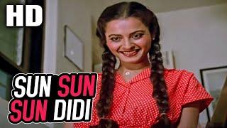 Sun Sun Sun Didi | Asha Bhosle | Khubsoorat 1980 HD Songs | Rekha