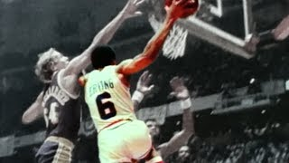 NBA legends react to Dr. J 's iconic baseline scoop move in the 1980 NBA Finals   ESPN Archives
