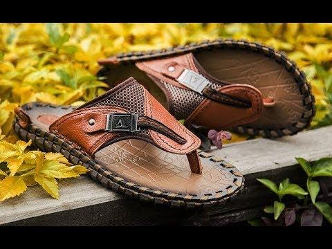 Кожаные вьетнамки сланцы сандали