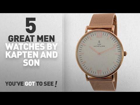 Top 10 Kapten And Son Men Watches [ Winter 2018 ]: Kapten & Son Campus Silver Mesh Watch - White