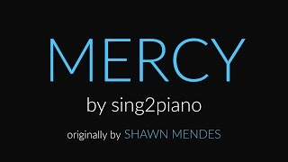 Mercy Piano Karaoke Instrumental Shawn Mendes