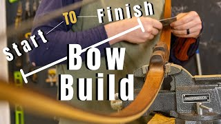 Making A Laminated Bow In Silence...