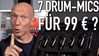 Hot oder Schrott? Mikrofon-Set mit 7 Drum-Mics für 99 €  | Abmischen Deutsch | Recording-Blog #69
