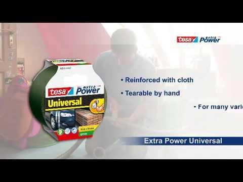 Remonto juosta tesa extra Power Universal 10mx50mm pilka kaina ir informacija | Mechaniniai įrankiai | pigu.lt