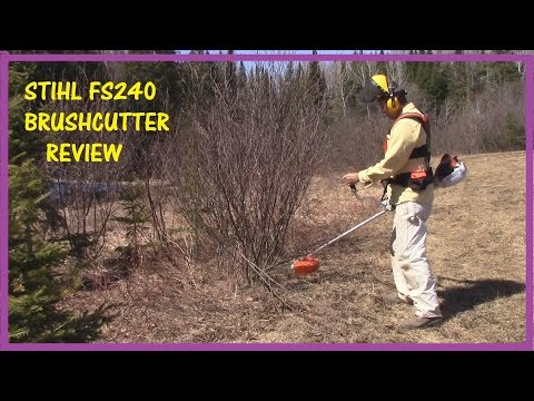 (73) STIHL FS240 BRUSH CUTTER REVIEW – HOW TO USE A BRUSH CUTTER