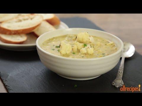 How to Make Cauliflower and Leek Soup   Soup Recipes   Allrecipes.com