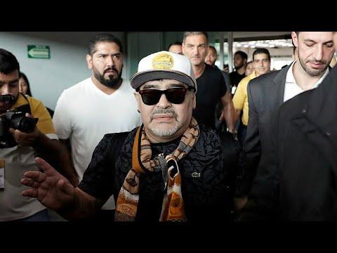 العرب اليوم - شاهد:استقبال حافل لمارادونا في المكسيك