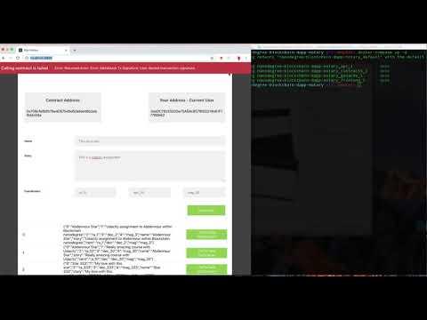 Demo Dapp Ethereum in Docker