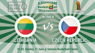 R. Šiškauskas Tournament: Lithuania vs Czech Republic (Women)