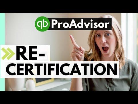 What's RE-CERTIFICATION? (Pt. 1) QuickBooks Online ProAdvisor ...