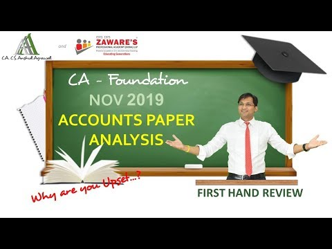 REVIEW of CA-Foundation Nov 2019 Accounts Paper | Analysis of Paper