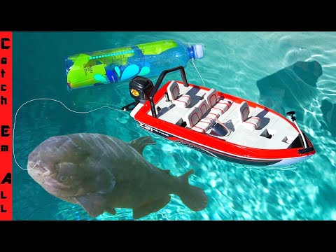 FISHING with a RC BOAT!