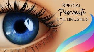 SPECIAL PROCREATE BRUSHES - plus 2 FREE Procreate brushes to paint eyes