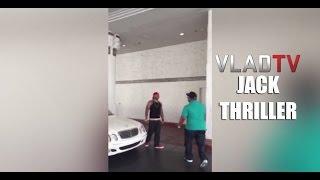 Jack Thriller Runs Up on 40 Glocc in Vegas Parking Lot