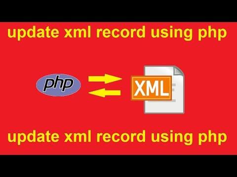 edit xml file using php