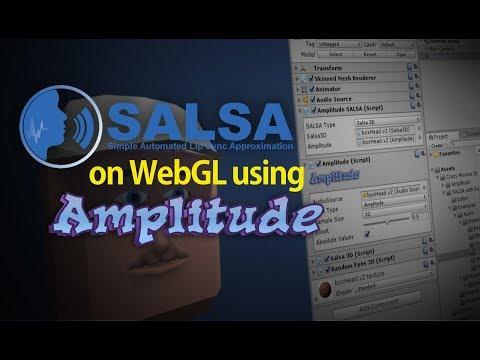 SALSA LipSync on WebGL using Amplitude