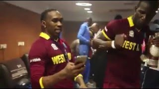 ICC - International Cricket Council Inside the ‪#‎WT20‬ Champions Dressing Room DJ Bbravo!!!