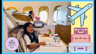 Kaycee & Rachel's first Business Class Airplane Ride