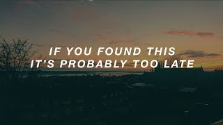 arctic monkeys // if you found this it's probably too late (lyrics)