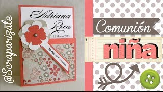 COMUNIÓN: Invitación de niña - first communion invitation