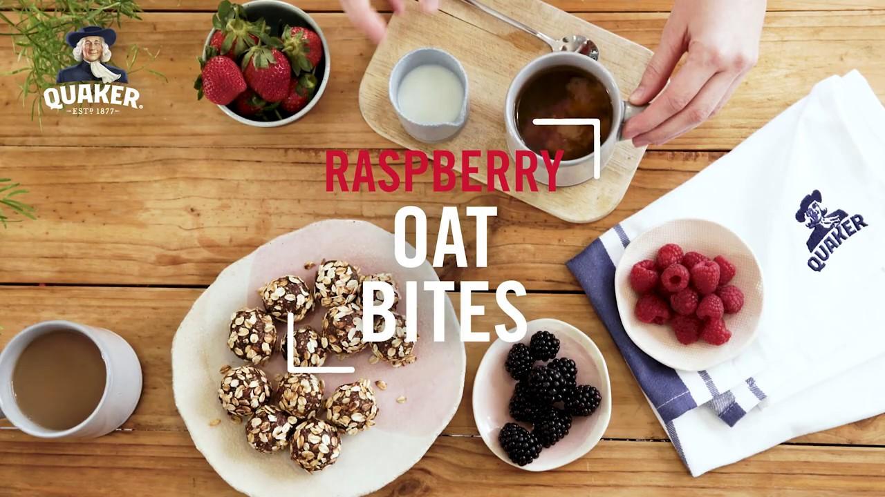 Quaker<sup>®</sup> Oats   Raspberry Oat Bites