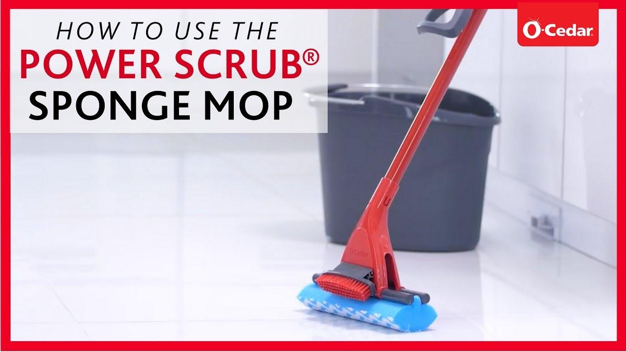 Sponge Mops Power Scrub Sponge Mop O Cedar