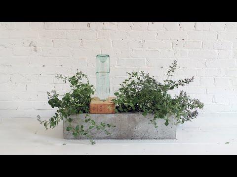 Blumenkasten auf Beton - inklusive Bewässerung