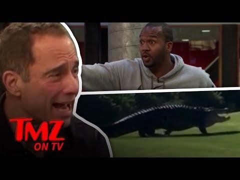 [TMZ] Giant Gator Walks Along Golf Course