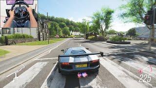 800BHP Lamborghini Aventador Liberty Walk - Forza Horizon 4   Logitech g29 gameplay