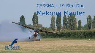 "Cessna O-1 L-19 Bird Dog ""Mekong Mauler""  Vietnam War Aircraft Amazing Aerobatic In Slow Motion"