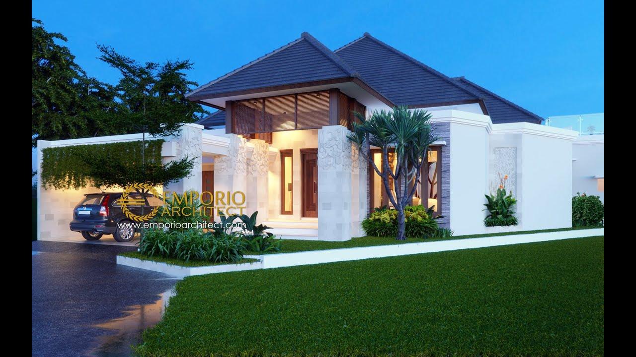 Video 3D Mr. Taufik Hidayat Villa Bali House 1 Floor Design - Padang, Sumatera Barat