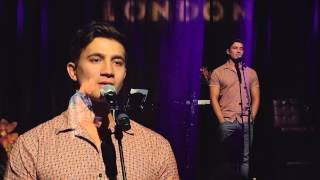 Dean John-Wilson sings 'Kiss the Air' at the Hippodrome on September 7th, 2015
