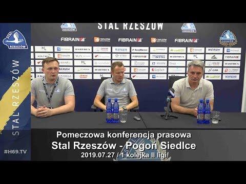 WIDEO: Stal Rzeszów - Pogoń Siedlce 3-2 [KONFERENCJA]