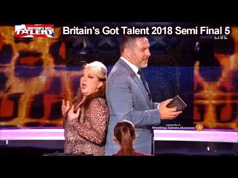 Mandy Muden Comedian Magician NAUGHTY FUNNY Britain's Got Talent 2018 Semi Finals 5 BGT S12E12 (видео)