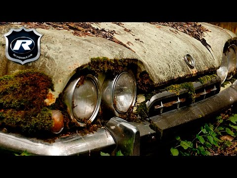 В Швейцарии дорогие тачки бросают  гнить в лесу! Кадры до слез! Забытые автомобили на кладбище машин