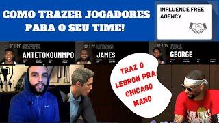 NBA 2K20 COMO CONTRATAR JOGADORES (INFLUENCE FREE AGENCY) PARA O SEU TIME NO MY CAREER PT BR
