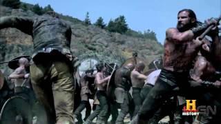 Rollo rencontre Floki sur le champ de bataille