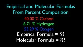 Empirical And Molecular Formula From Percent Composition (No. 1)