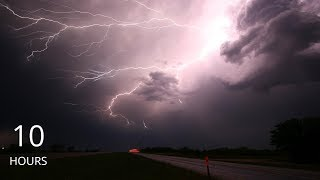 10 Hours of Torrential Rains with Thunder and Lightning Storm