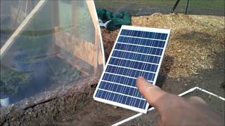 HOW TO INSTALL THE CHEAPEST EASIEST SOLAR FAN FOR YOUR GREEN HOUSE, HOOPHOUSE OR ATTIC.