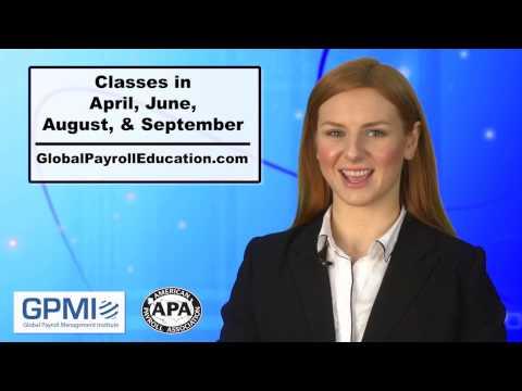 Global Payroll Management Certificate Program - YouTube