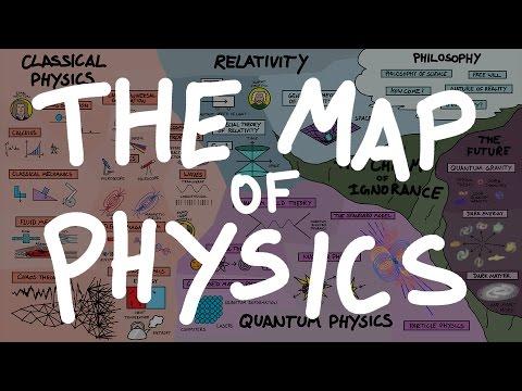 Un didáctico mapa de la física actual