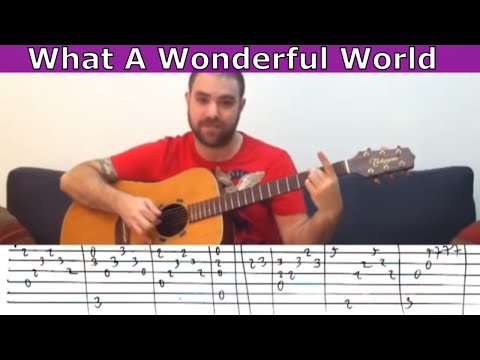 Fingerstyle Tutorial: What A Wonderful World - Guitar Lesson w/ TAB