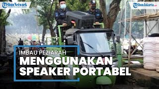 Petugas Keamanan TPU Tanah Kusir Keliling Pakai Speaker Portabel untuk Imbau Warga yang Nekat Ziarah