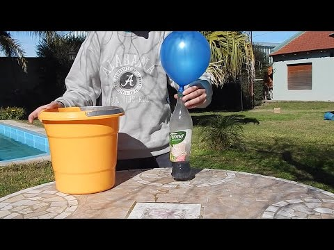 Inflar globos que flotan con aluminio - How to inflate flying ballons with aluminum