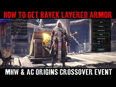 How To Get NEW Assassin's Creed Armor - Monster Hunter World | MHW