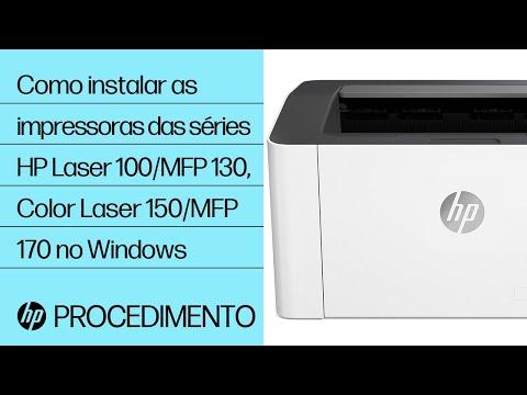 Como instalar as impressoras das séries HP Laser 100, MFP 130 e Color Laser 150, MFP 170 no Windows